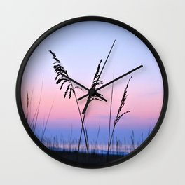 Sea Oats Sunrise Wall Clock