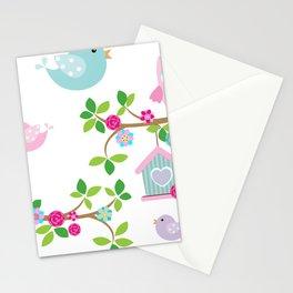 Búhos, Pájaros y  ramas de arboles Stationery Cards