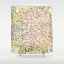 Vintage Map of Bavaria Germany (1814) Shower Curtain