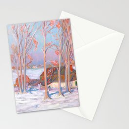Clarence Gagnon - Première Neige - First Snow, Baie St. Paul Stationery Cards