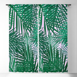 pink palms Blackout Curtain