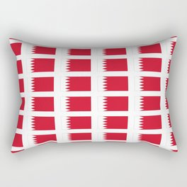 flag of bahrain-Bahraini,arabian plate,manama,persian gulf Rectangular Pillow