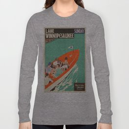 Vintage poster - Lake Winnipesaukee Long Sleeve T-shirt