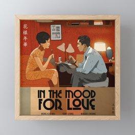 In the Mood for love - Illustrated Art Print  Framed Mini Art Print