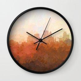 Minneapolis, Minnesota Skyline - In the Clouds Wall Clock