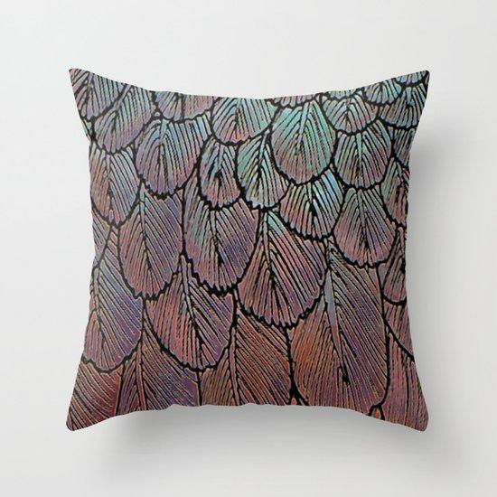 Feather Detail Throw Pillow
