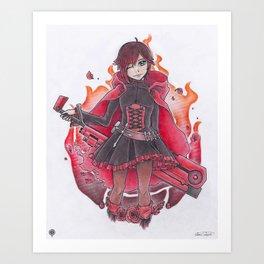 RED LIKE ROSES Art Print