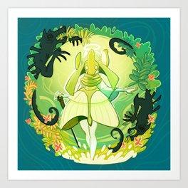 A World of Green Art Print