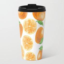 Watercolor tangerines Travel Mug