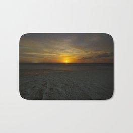 carribbean beach night moonrise. Bath Mat