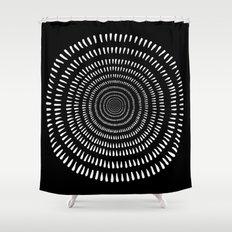 Fjorn black Shower Curtain