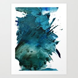 Scenic Route [2]: a pretty, minimal abstract piece in blue and green by Alyssa Hamilton Art Art Print