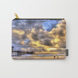 A Fire Sky Sunset * Huntington Beach Pier Carry-All Pouch