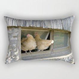 Farm Animal Photography Pair of Chicken Best Friends Buff Orpingtons Rectangular Pillow
