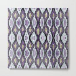 Organic pattern green purple Metal Print