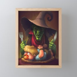 Hansel and the Witch Framed Mini Art Print