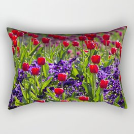 Spring Tulips Rectangular Pillow