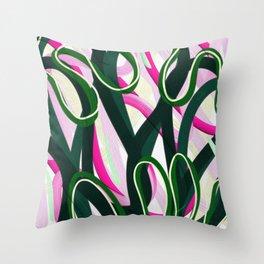 Floral Cadence Throw Pillow