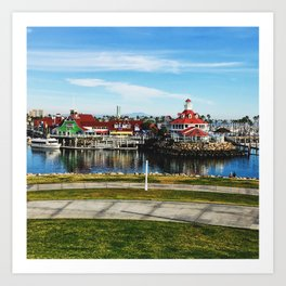 Shoreline Village Art Print