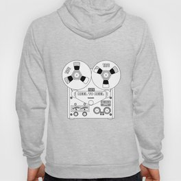 Reel To Reel Line Drawing Hoody