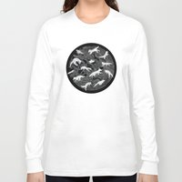 wolf Long Sleeve T-shirts featuring GHOSTS  by Sandra Dieckmann