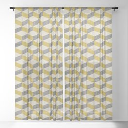 PETRA SUGAR GOLD Sheer Curtain