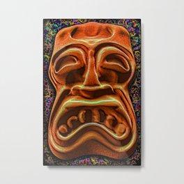 Stony Orange Tiki Metal Print