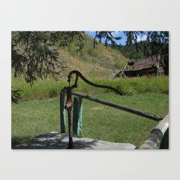 The Hand Pump Canvas Print