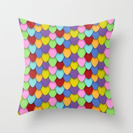 Dragon Scales in Rainbow Throw Pillow