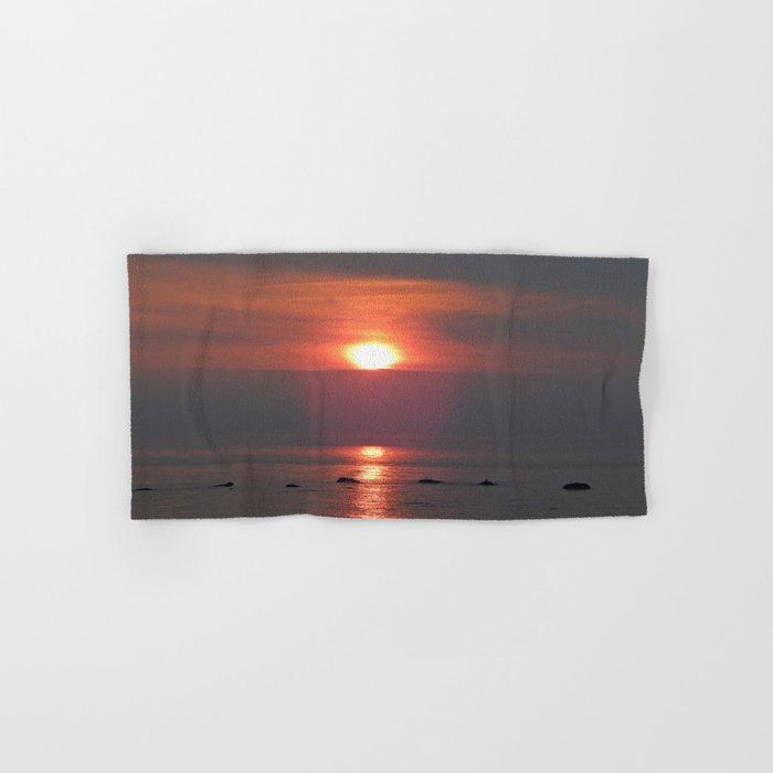 Ste-Anne-Des-Monts Sunset on the Sea Hand & Bath Towel