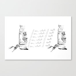 I Am What I Eat - Coconut Oil Canvas Print