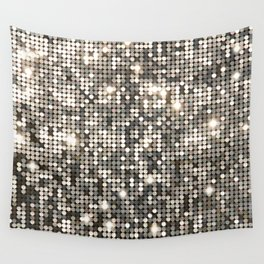 Silver Metallic Glitter sequins Wall Tapestry