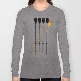 Rowing Oars 4 Long Sleeve T-shirt