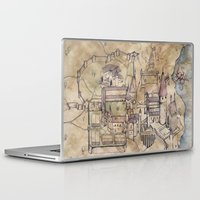 hogwarts Laptop & iPad Skins featuring Hogwarts Map by Sarah Ridings