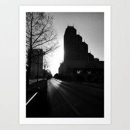 Morning in Downtown Art Print