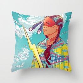 Thunder Woman Throw Pillow