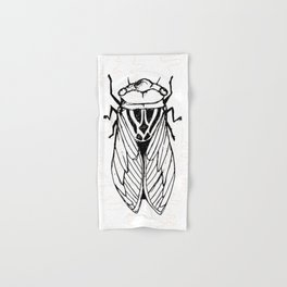 Cicadas on the Scribbly Gum Hand & Bath Towel