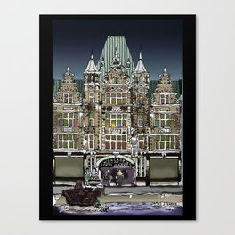Dayton Arcade in Film Ink and Pixels Canvas Print