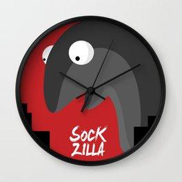 Beware The SockZilla Wall Clock