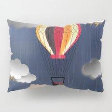 Balloon Aeronautics Rain Pillow Sham