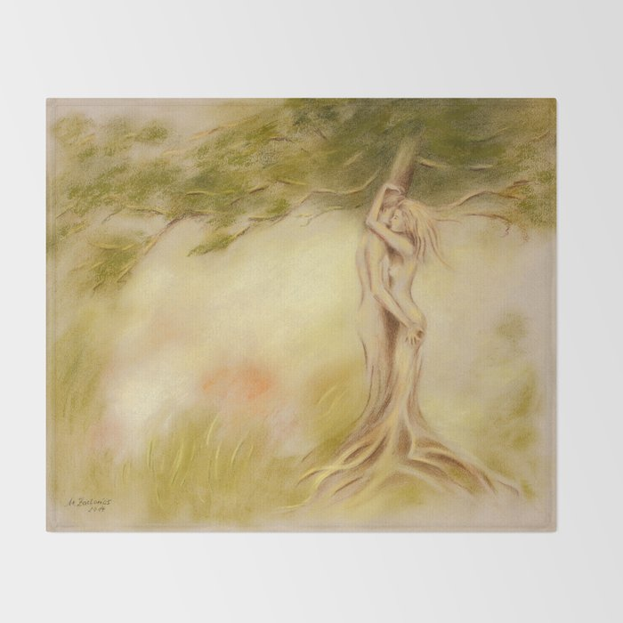 Mystic Tree - Symbolism Throw Blanket