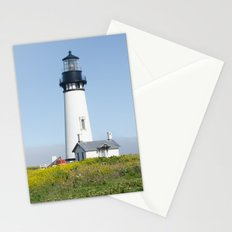 Yaquina Beach Light House Stationery Cards