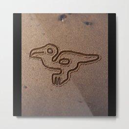 NAZCA LINES MACAW NAZCA LINES ART Geoglyphs Metal Print