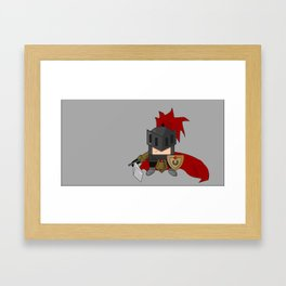 Little Knight Framed Art Print