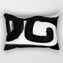 Edges of Black and White Rectangular Pillow