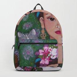 Frida cat lover closer Backpack