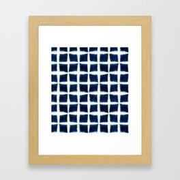 Shibori Blocks Framed Art Print