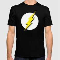 The Flash LARGE Mens Fitted Tee Black