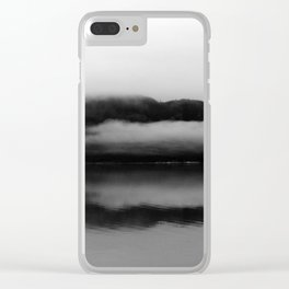 Black and White Alaska Photography, Enchanted Isle Clear iPhone Case
