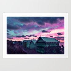Infrared Sunset Art Print